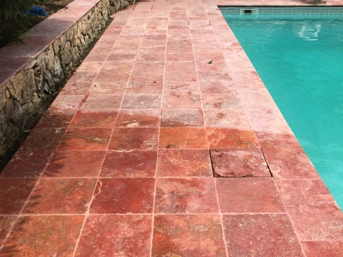 traitement carrelage naturelle piscine